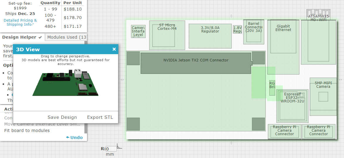 Gumstix Geppetto with 3D view interface