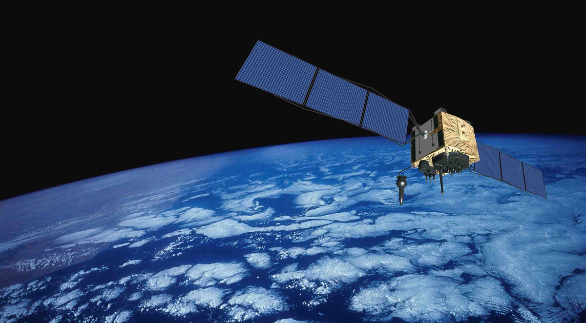 GPS Satellite over Earth