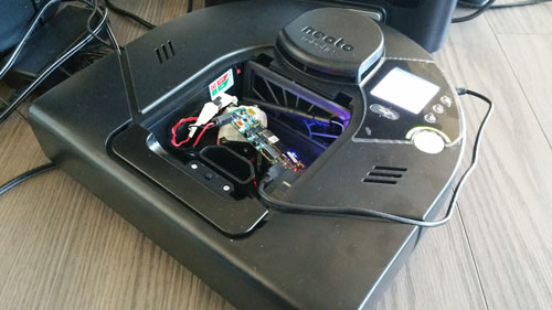 The Neato XV Signature Robot Vacuum outfitted with Gumstix Hardware