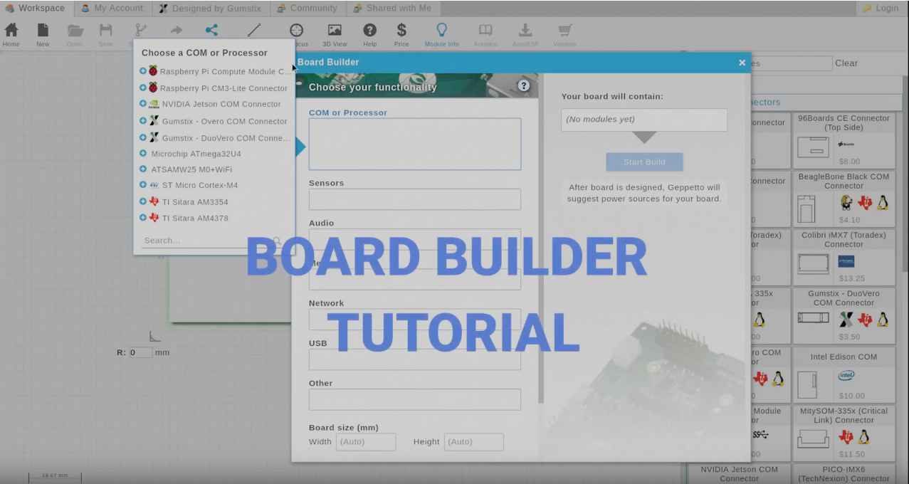 Geppetto Tutorial: Board Builder